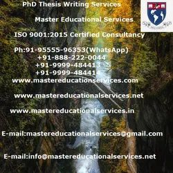 PhD Thesis Writing Services In Bangalore