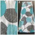 Printed Cotton Fabric For Dupatta / Scarves, Digital Prints, Multicolour