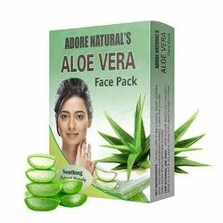 Adore Naturals Aloe Vera Face Pack 25G, Type Of Packaging: Box