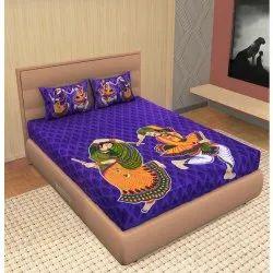 Purple Jaipuri Bedsheet