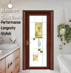 Aluminum Glass Doors 8 Layer Coating Bird Bathroom Door, For Home, Office etc, Size/Dimension: 2050x 760x30 Mm