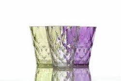 Transparent Diamond Glass plastic, For Hotel, Capacity: 265 Ml
