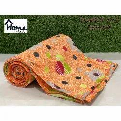 Orange Double Bed AC Printed Dohar Blanket