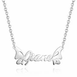 Personalized Name Necklace with Butterfly Charm