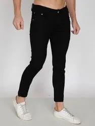 Denim Plain Men Black Skinny Jeans, Waist Size: 28 Inch