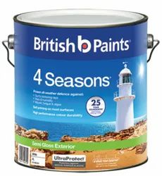 British Paints Semi Gloss Exterior Paint, Brush,roller or spray, Packaging Size: 6 Litre