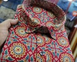 Printed Cotton Fabric Shirt, For Personal