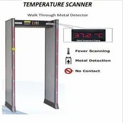 Temperature Scanner Multi Zone Walk Through Metal Detector