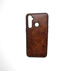 Brown Single Soft Leather Mobile Cover