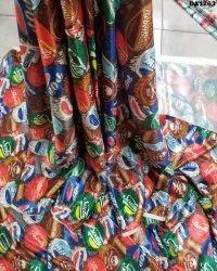 Beautiful Satin Silk Digital Print Fabric