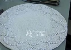 White and Classic Beaded Placemats