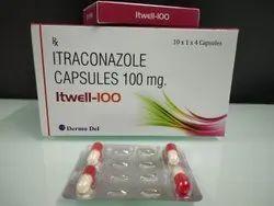 Itraconazole Capsules 100mg, DELLWICH, 10 X 1 X 4