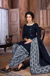 KIAAN FASHION Unstitched Ladies Cotton Patiala Salwar Suit, Handwash