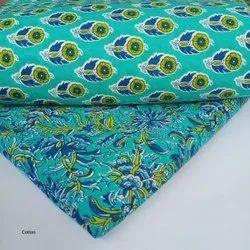 Sea Green Hand Block Printed Cotton Fabric Suit