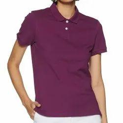 Half Sleeve Polo Ladies Corporate T Shirt