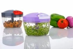 Handy and Vegetable Chopper with 3 Blades for Chopping Vegetables and Fruits 550ML (Color May Vary)