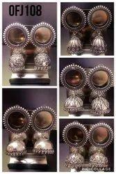Oxidised Jhumki Earring