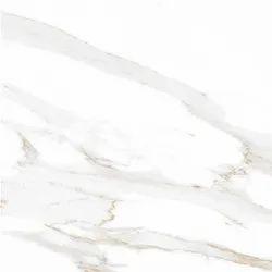 Somany Digital Printing Statuario White Marble Vitrified Floor Tiles, 600 mm x 600 mm, Thickness: 10 mm