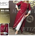Rayon two pcs Indo Western Dress