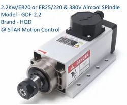 HQD 3phase 2.2 Kw Air Cooled Spindle Motor