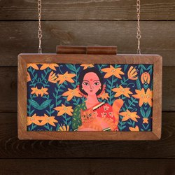 Ladies Wooden Clutches