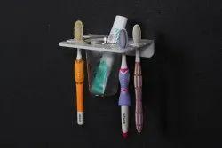 White Homfa Acrylic Toothbrush Holder, For Bathroom, Number Of Holder: 6