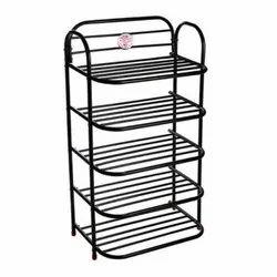 ASE Organiser Black 5 Shelves Shoe Rack, For Shoes