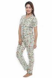 Footari Fashion Night Suit / Night Wear for Girls / Women's Shirt and Pajama Set/Nighty/Lounge wear