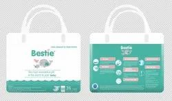 Nonwoven Disposable BESTIE BABY DIAPERS, Age Group: Newly Born