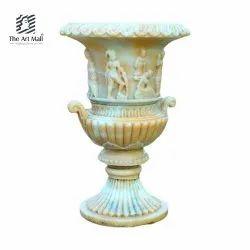 Round Decorative Marble Garden Pot, Size: 31x31x21inch