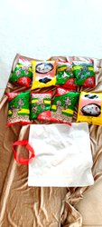 Strong Handled Cotton Grocery Carry Bags, Capacity: 9+ Kg, Size/Dimension: 14 X 15 Inches