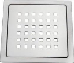 Stainless Steel Bathroom Drain Floor Jali, MATT Finish, Size 5 x 5