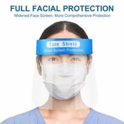Disposable Face Shield With Adjustable Elastic Strap for Covid Protection