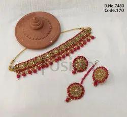 Fusion Arts Mehendi Polish Necklace Set