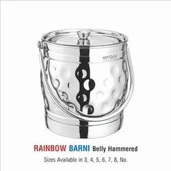Stainless Steel Milk Pot-Rainbow Hammered