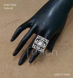 Fusion Arts American Diamond Finger Ring