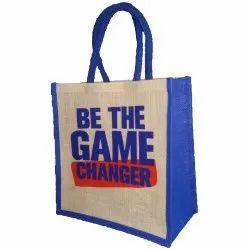 Mixed Color Printed Laminated Jute Shopping Bag, Size: Customizable