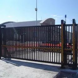 Automatic Mild Steel Sliding Gate, For Commercial, Size: 12 Feet (w) X 5 Feet (h)