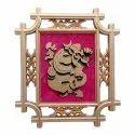 Ganesh Wall Hanging, Plastic (ABS) Decorative Showpiece