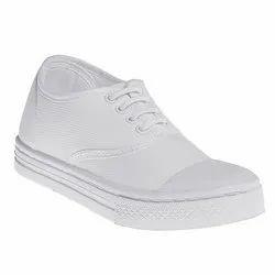 Oxford Footwear Canvas Unisex White PT Shoes, Size: 8