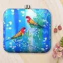 Irya Lifestyle Beautiful Bird Printed Evening Clutch Bag