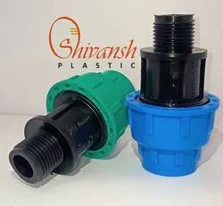 PP Compression male threaded adapter