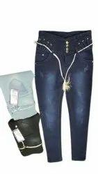 Paridhi Navy Blue Ladies Stretchable Jeans
