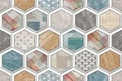 Multicolor wall tiles for living room