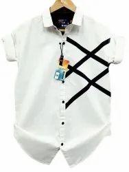 White Mens K-John Cotton Casual Wear Shirt