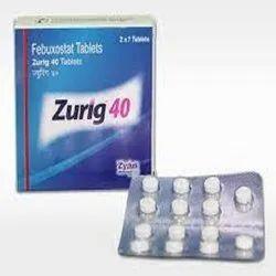 Zurig 40 mg Tablet (Febuxostat)