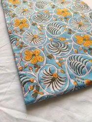Printed Pure Designer Hand Block Cotton Fabric