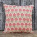 Blue Jaal Cotton Cushion Cover