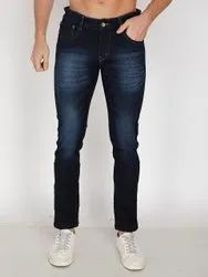 Dark Blue Casual Wear Mens Jeans Pant, Size: 28*36