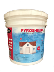 Matt White PYROSHIELD Cool Roof Paint, For Exterior, Packaging Type: Bucket